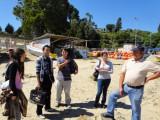 Su primera experiencia de trabajo en terreno tuvieron los nuevos estudiantes de Ingeniería en Biotecnología Acuícola, quienes visitaron un centro de cultivo en Coliumo.