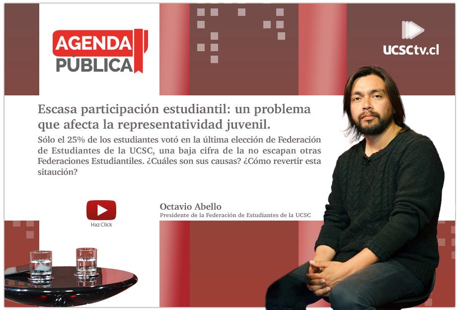 Agenda Pública (Cap. 6): Escasa participación estudiantil