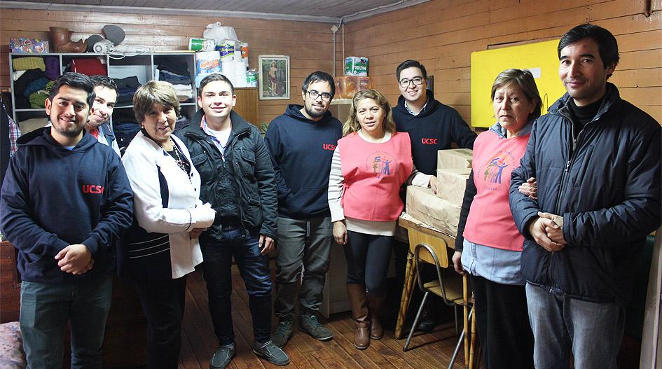 Acción solidaria apoyó a comedor de la Parroquia Santa Filomena de Cabrero