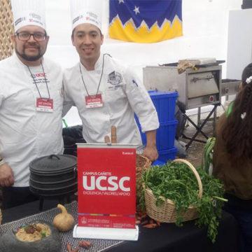 Gastronomía Intercultural representó a UCSC en Fiesta del Chancho en Talca
