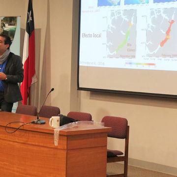 Investigadores expusieron aportes sobre fiordos patagónicos en encuentro en la UCSC