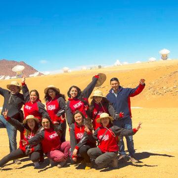 Alumnas de Pedagogía Básica visitaron observatorio Alma en San Pedro de Atacama