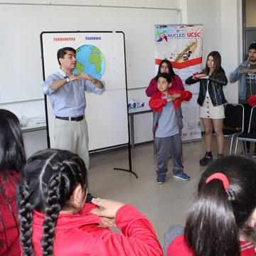Alumnos de Escuela Bellavista de Tomé participaron de taller de percepción de riesgos