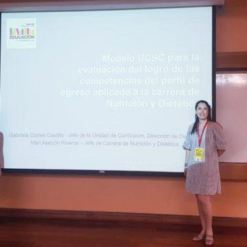Nutrición y Dietética expuso modelo de evaluación de competencias de perfil de egreso en Summit Internacional de Educación
