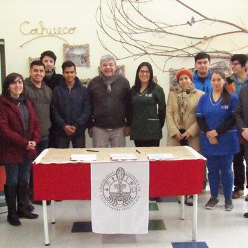 IT Sede Chillán firmó convenio que permitirá ayudar a jardín infantil de Coihueco