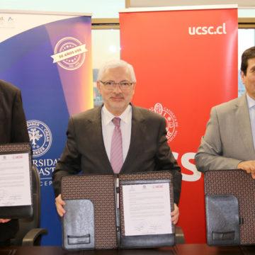 USS, UAP y UCSC firman convenio de cooperación para desarrollo de productos biotecnológicos
