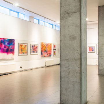 Con colorida muestra artista local busca llevar alegría al espectador