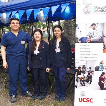 Alumnos de Enfermería colaboran en Feria de Salud Mental