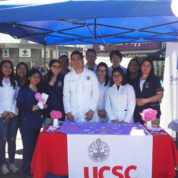 UCSC se hace presente en feria por prevención del cáncer cervicouterino