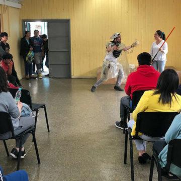 DEAC y estudiantes realizan jornadas recreativas con niños del Sename