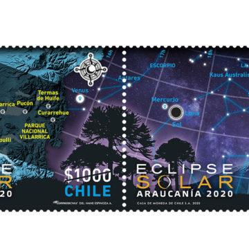 Académico de Facultad de Ingeniería diseñó sello postal de Eclipse 2020