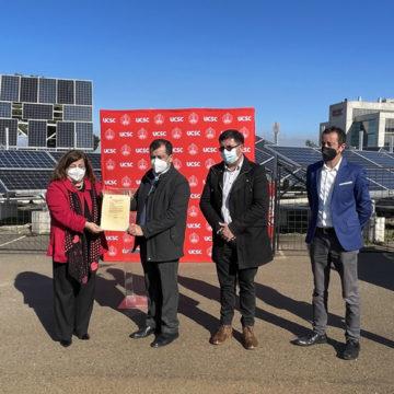 UCSC recibe certificado de aprobación FNDR para construcción de planta piloto de hidrógeno verde