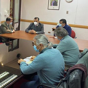 Rector Mellado se reúne con autoridades de Región del Ñuble
