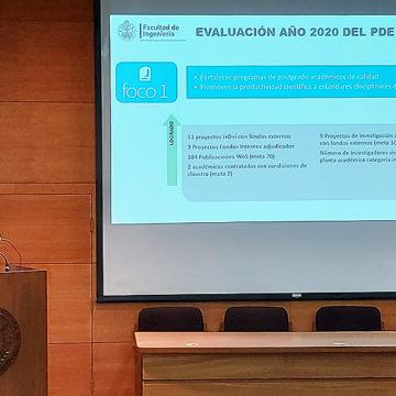 Facultad de Ingeniería presentó aportes a PDE institucional en Cuenta Anual