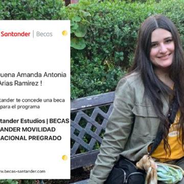Estudiante de Ingeniería Comercial se adjudica Beca Santander de movilidad internacional