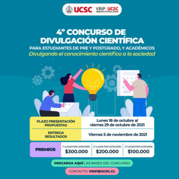 """UCSC invita al Concurso """"Divulgando el conocimiento científico a la sociedad"""""""