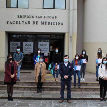 Unidad de Trazabilidad UCSC: estudiantes recibieron reconocimiento por labor realizada en pandemia